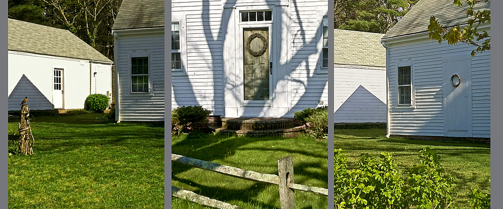 Spring Shadow House,Triptych